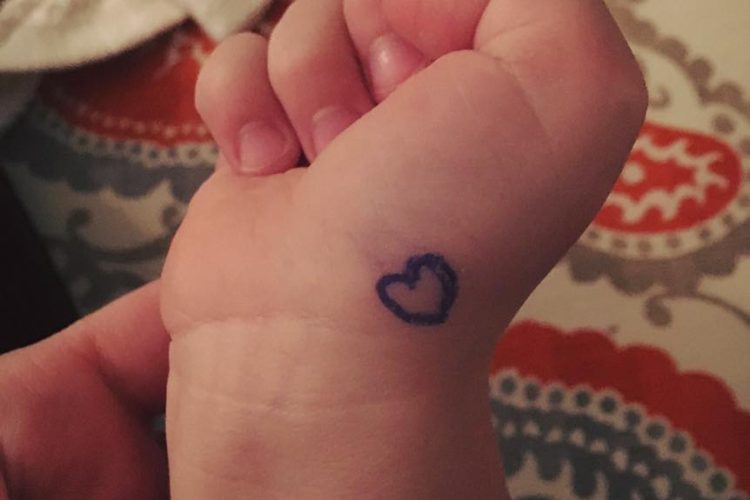 I Drew a Heart On His Hand | lizpetrone.com